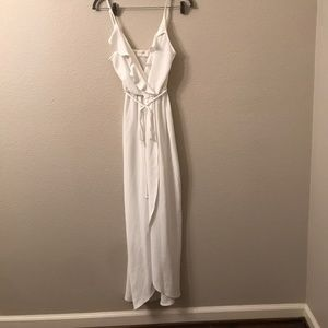 Everly white maxi dress